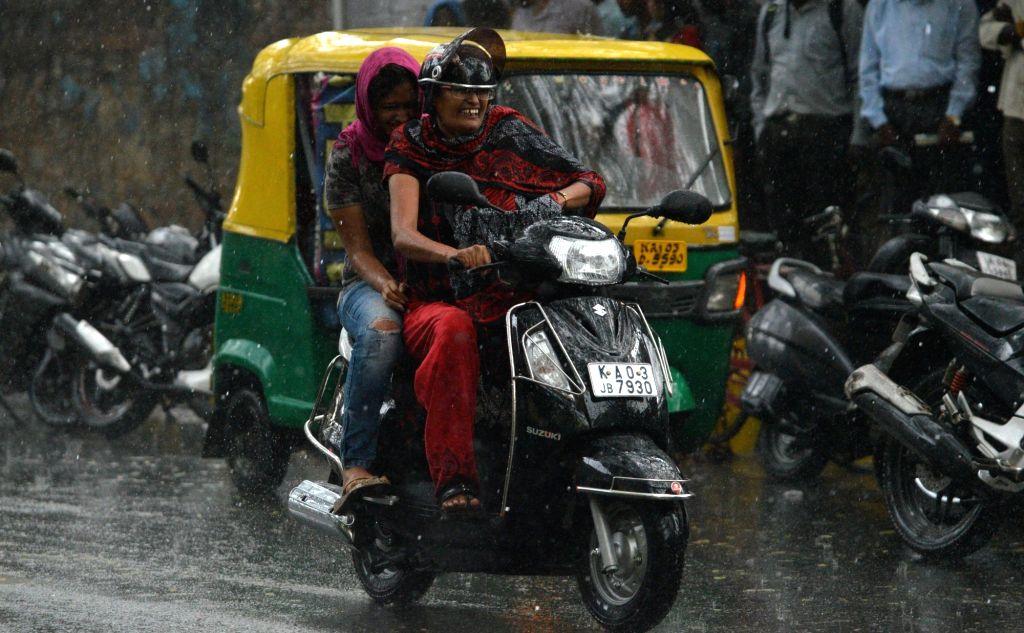 Rains lash Bengaluru on Nov 2, 2015.