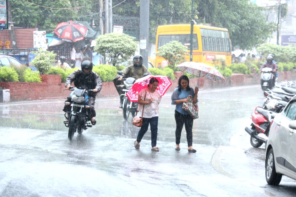Rains lash Dehradun, on July 25, 2019.