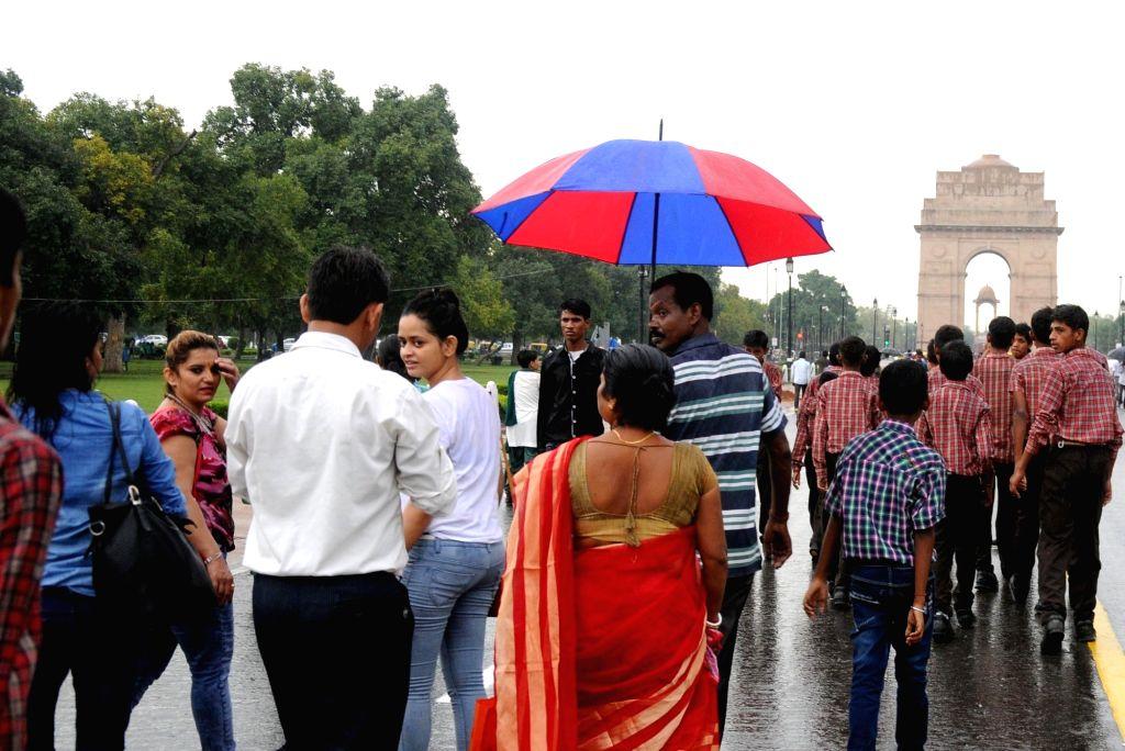Rains lash Delhi on Aug 11, 2016.