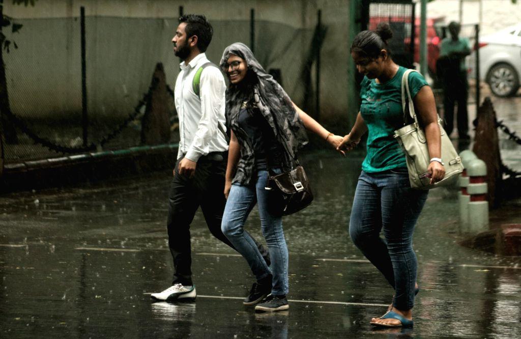 Rains lash Delhi on May 31, 2017.