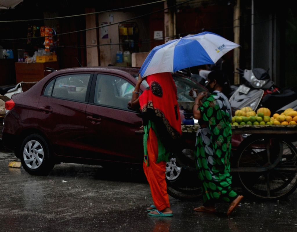 Rains lash Delhi on May 31, 2020. (Photo: IANS)