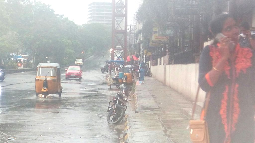 Rains lash Hyderabad, on March 19, 2020.