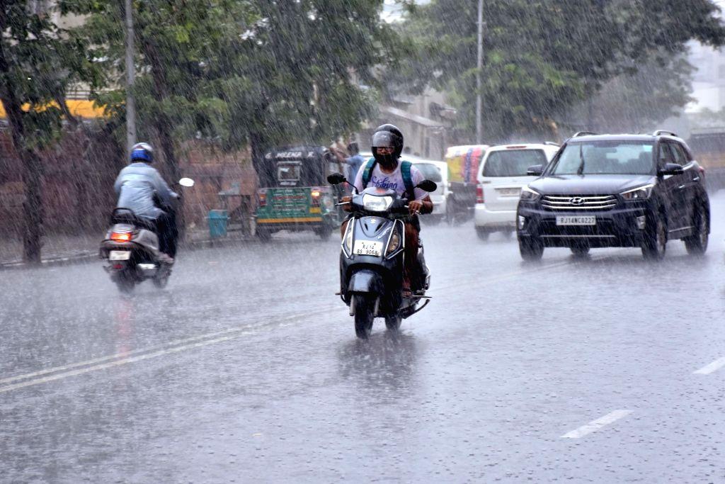 Rains lash Jaipur on June 29, 2017.