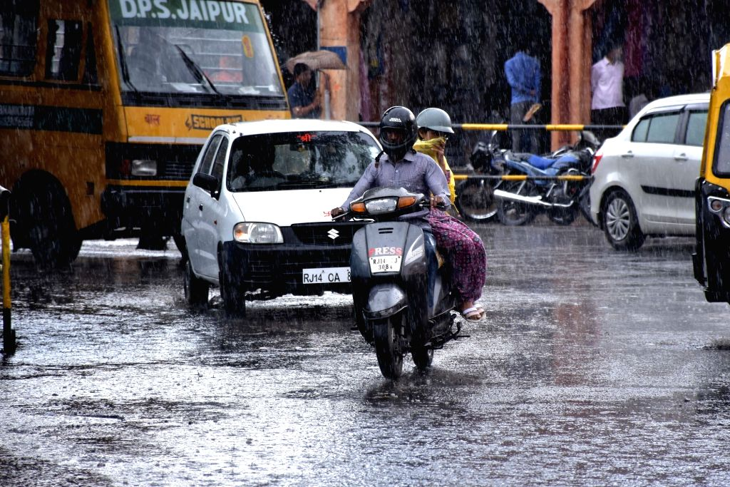 Rains lash Jaipur on March 10, 2017.