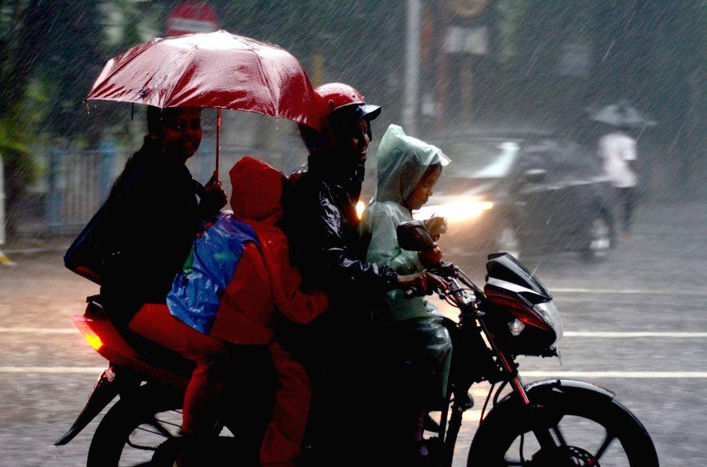 Rains lash Kolkata on Aug 3, 2017.