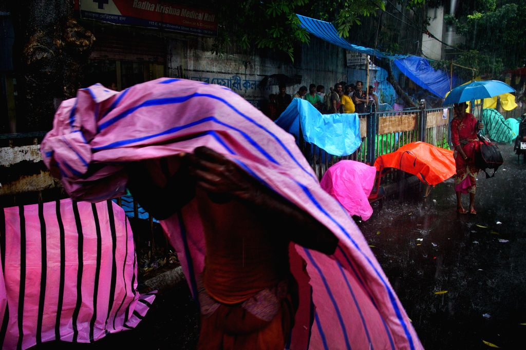 Rains lash Kolkata on July 2, 2017.