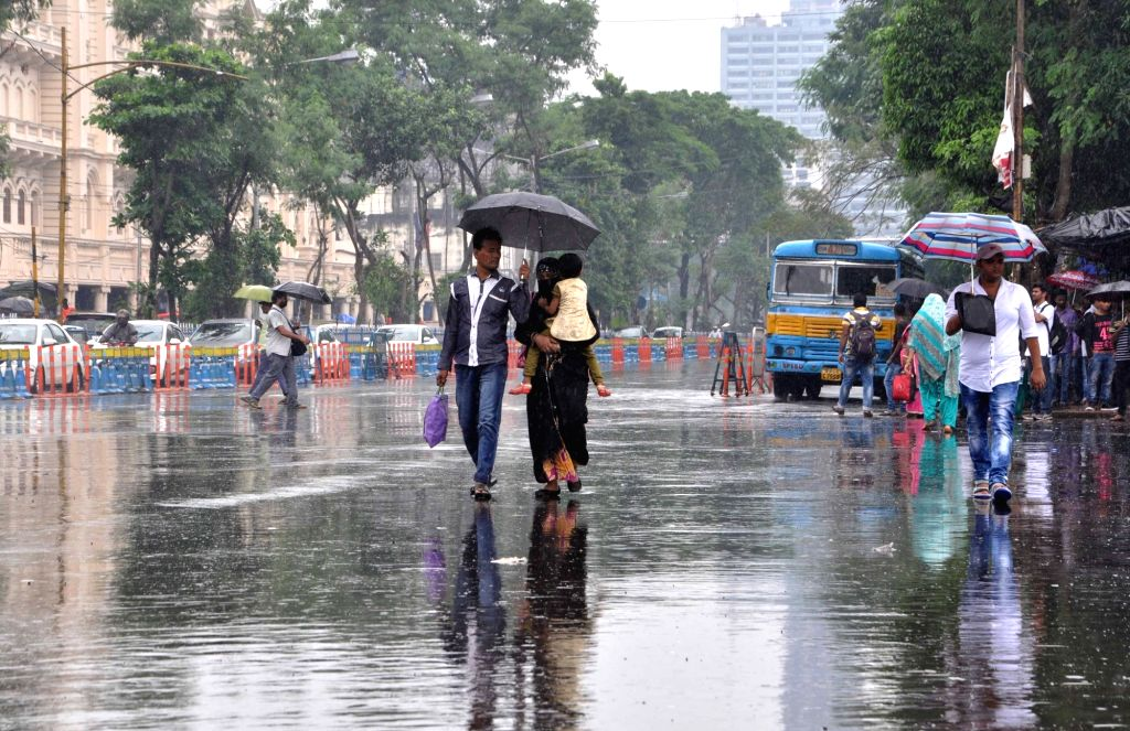 Rains lash Kolkata on July 25, 2017.