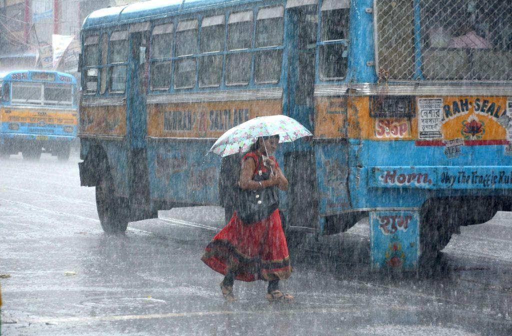 Rains lash Kolkata on June 30, 2017.