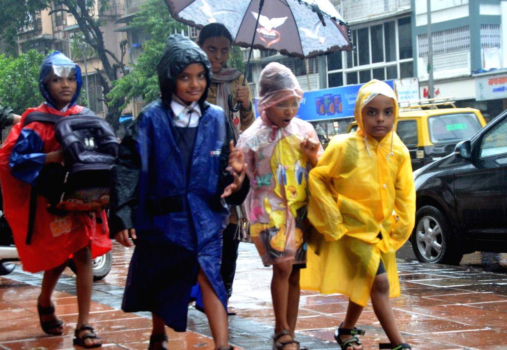 Rains lash Mumbai, on June 27, 2017.