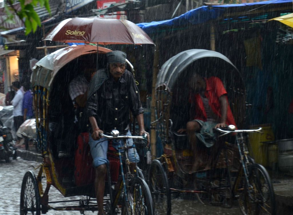 Rains lash Muzaffarpur, Bihar on July 20, 2019.