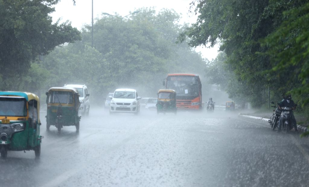 Rains lash New Delhi on Aug 5, 2020.