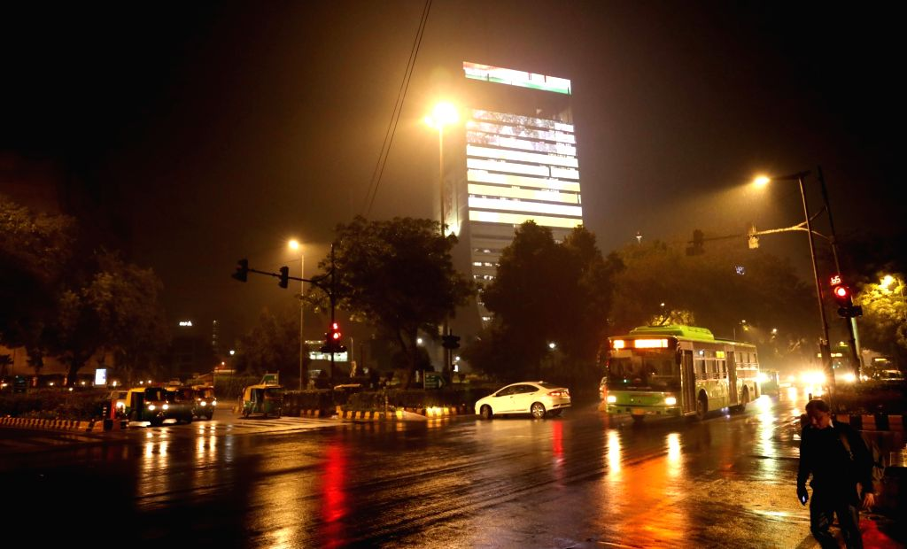 Rains lash New Delhi on Dec 12, 2019.