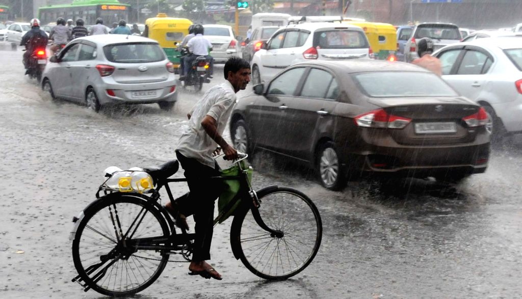 Rains lash New Delhi on July 1, 2016.