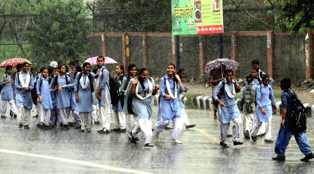 Rains lash New Delhi on July 15, 2016.