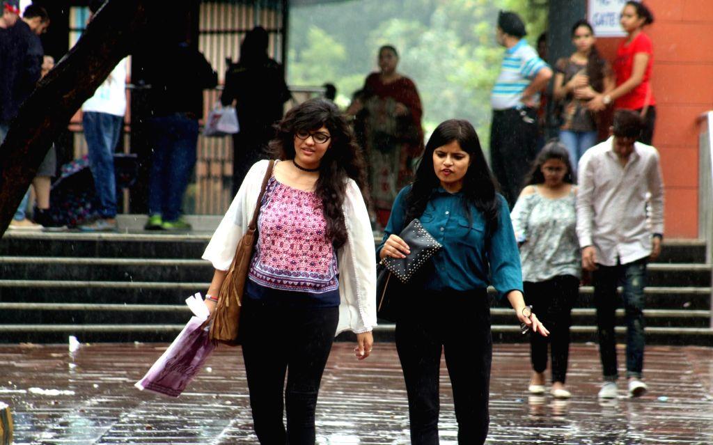 Rains lash New Delhi on July 17, 2016.