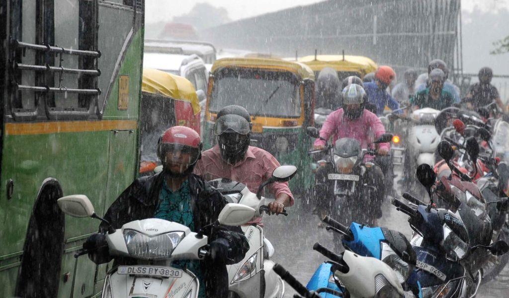 Rains lash New Delhi on July 25, 2016.