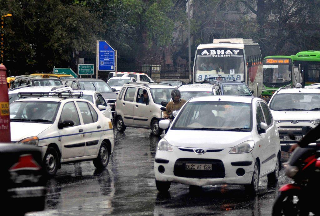 Rains lash New Delhi on March 10, 2017.