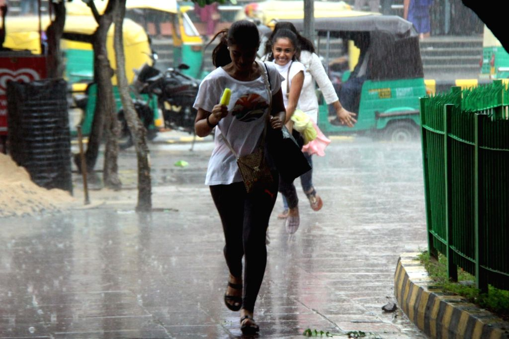 Rains lash New Delhi on Sep 7, 2019.