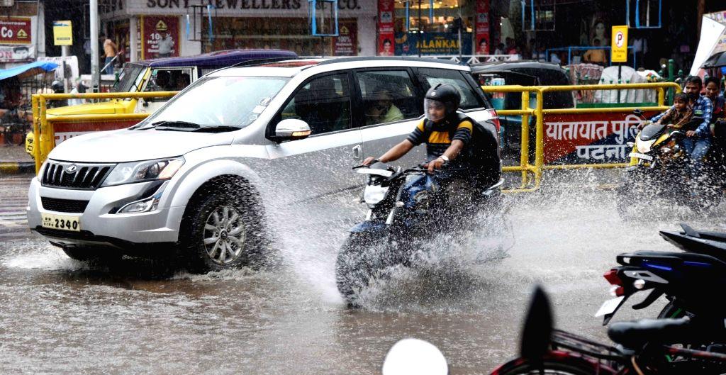Rains lash Patna, on Aug 29, 2019.