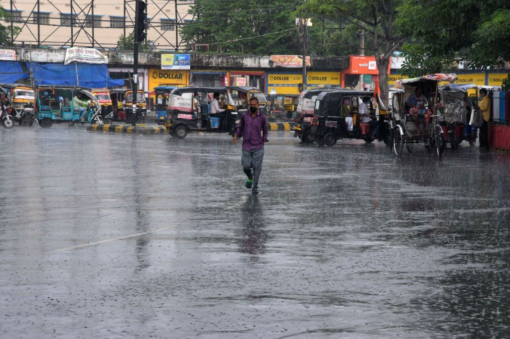 Rains lash Patna on Aug 5, 2020.