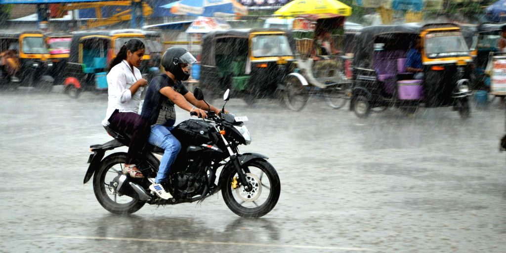 Rains lash Patna on Aug 8, 2015.