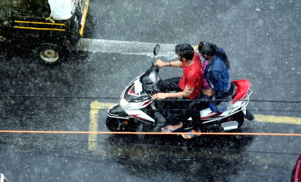 Rains lash Patna on Aug 9, 2019.
