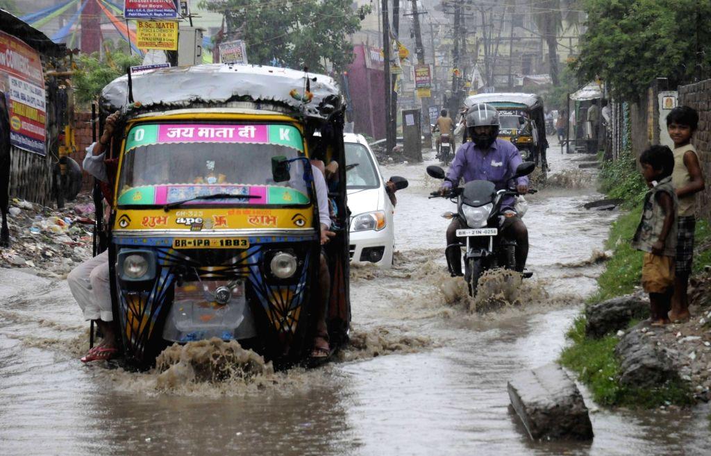 Rains lash Patna on July 18, 2016.