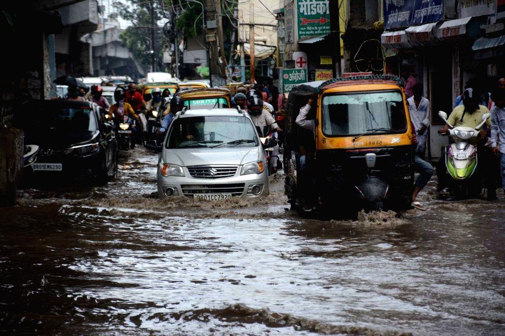Rains lash Patna on June 26, 2020.