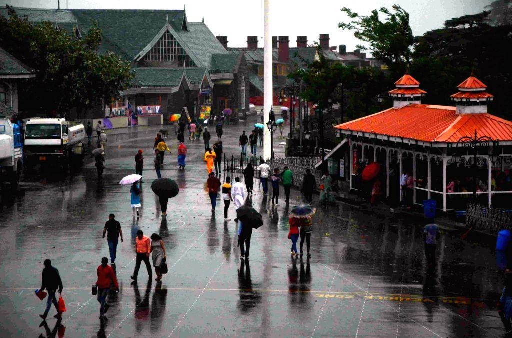 Rains lash Shimla on June 1, 2018.