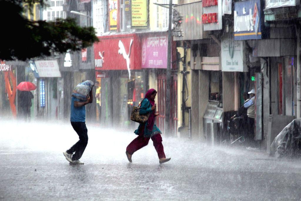 Rains lash Shimla on May 12, 2017.