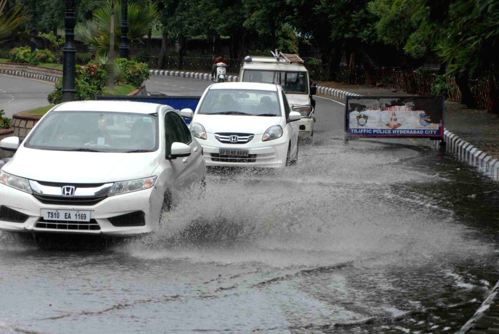 Rains lashed Hyderabad, on July 12, 2018.