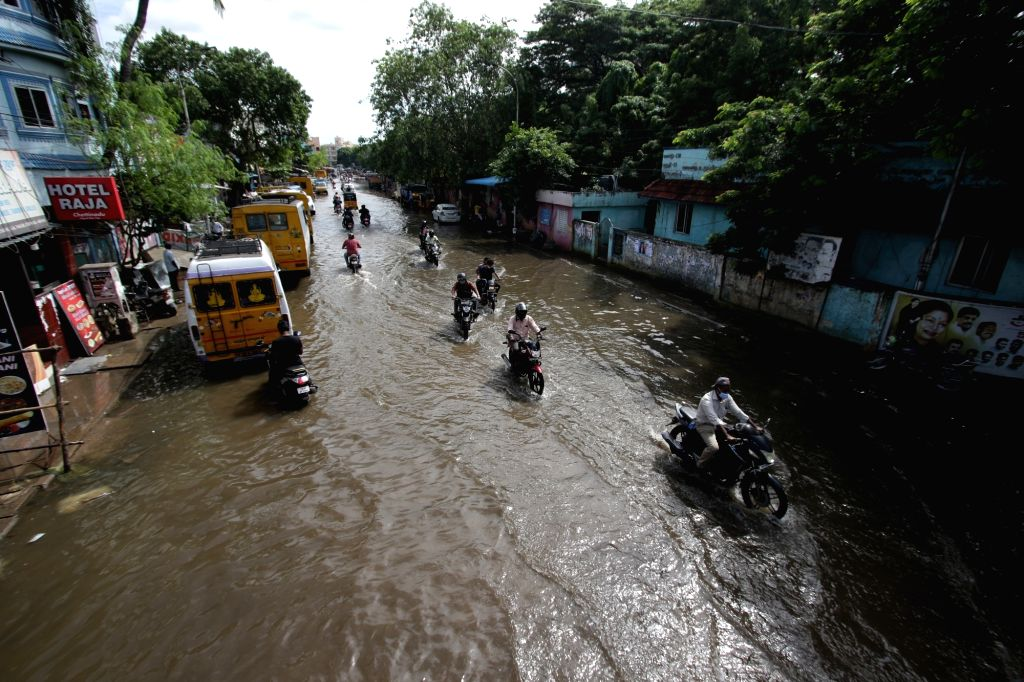 Rains triggered due to the effect of Cyclonic storm Nivar caused waterlogging in Chennai, on Nov 27, 2020.