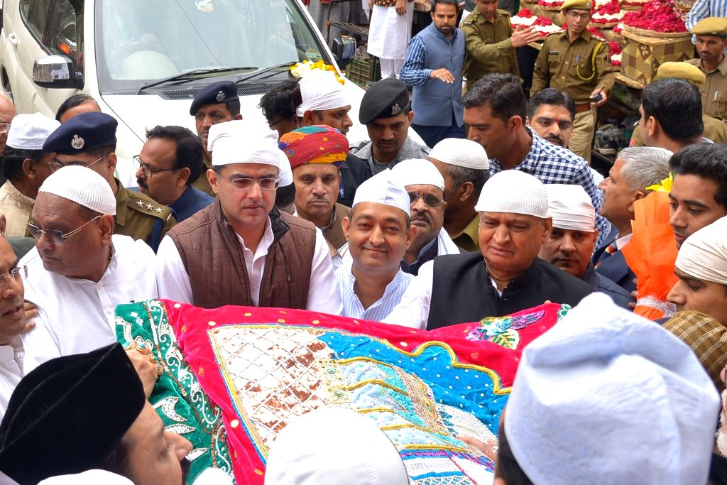 Rajasthan Chief Minister and Congress leader Ashok Gehlot along with Deputy Chief Minister and party leader Sachin Pilot arrive at Ajmer Sharif Dargah to offer a 'chadar' on behalf of Congress ... - Rahul Gandhi