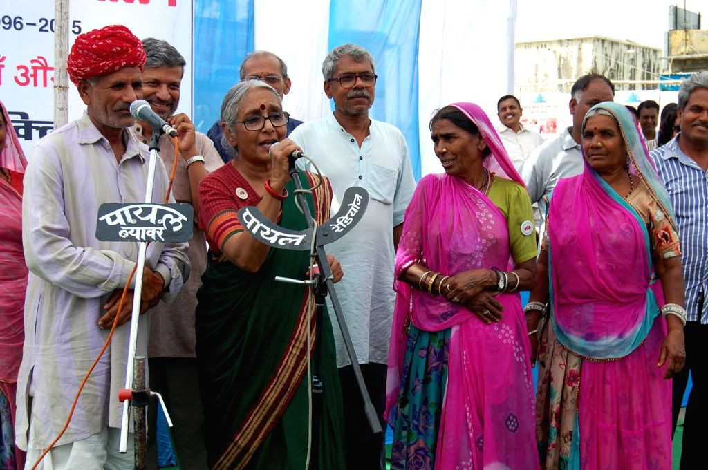 Indian political and social activist Aruna Roy during a programme organised to celebrate 20 years of Right to Information Movement in Beawar of Rajasthan on April 6, 2015. - Aruna Roy