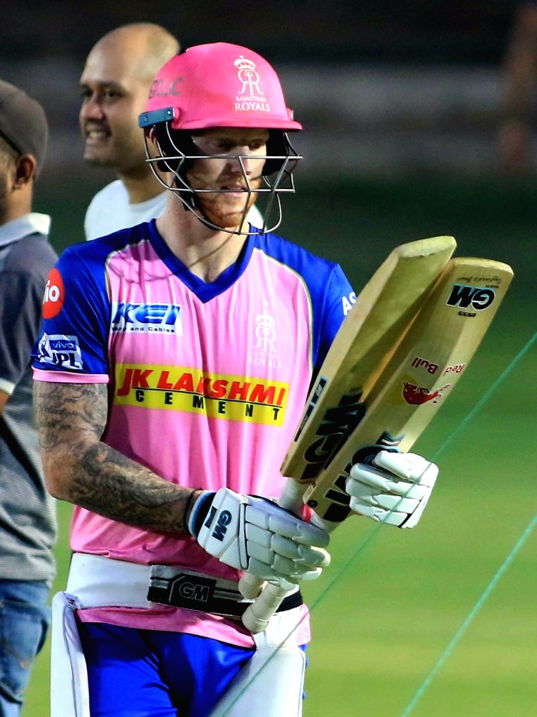 Rajasthan Royals' Ben Stokes during a practice session in Jaipur on April 10, 2019.