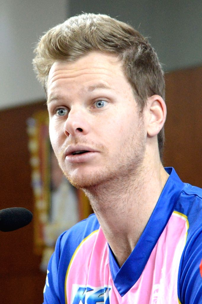 Rajasthan Royals captain Steve Smith addresses a press conference in Bengaluru, on April 29, 2019. - Steve Smith