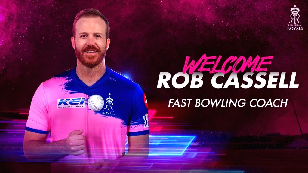 Rajasthan Royals have appointed former Australian fast bowler Rob Cassell as their new fast bowling coach for the upcoming 2020 edition of the Indian Premier League (IPL). - Rob Cassell