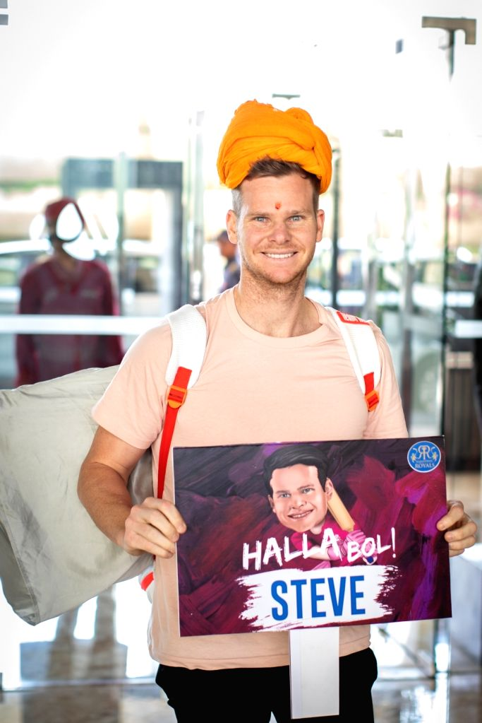 Rajasthan Royals' Steve Smith arrives in India ahead of IPL 2019.