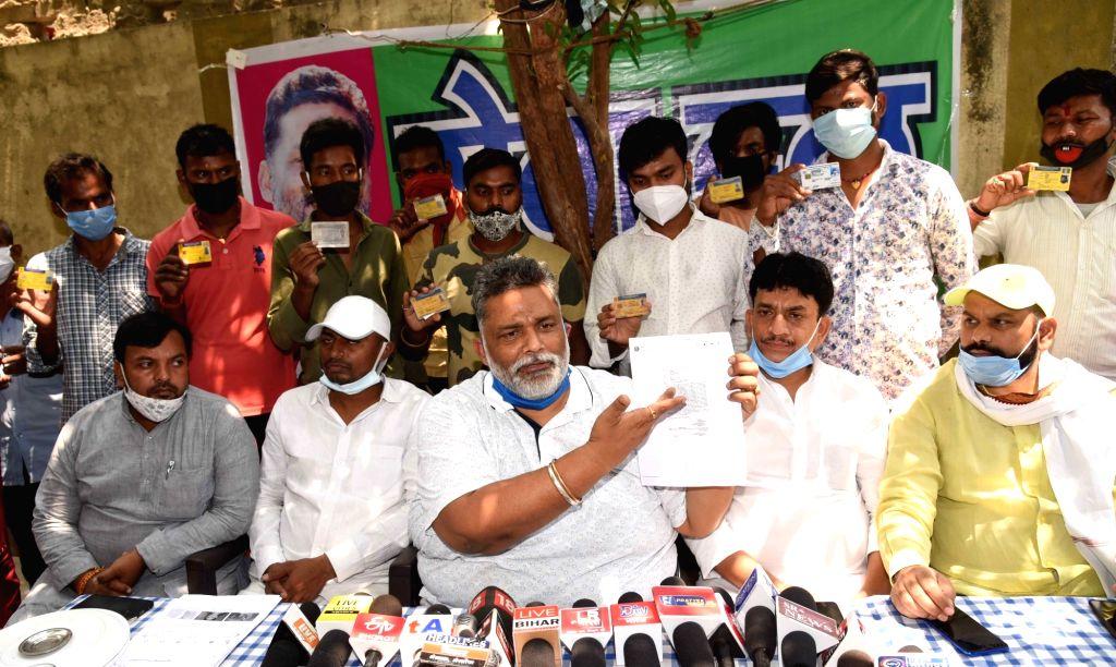 Rajesh Ranjan alias Pappu Yadav, the four time MP and president of Jan Adhikar Party (JAP) has demanded an FIR against BJP MP Rajiv Pratap Rudy under the Epidemic Diseases Act, in Patna On ... - Pappu Yadav