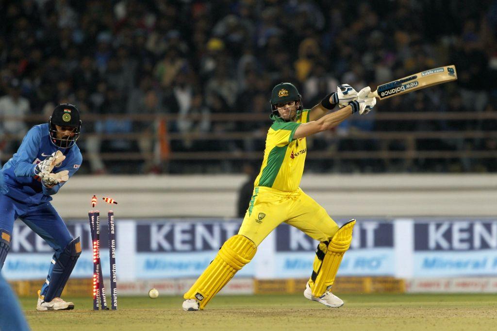 Rajkot: Australia's Steve Smith clean bowled during the second ODI of the three-match series between India and Australia, at Saurashtra Cricket Association Stadium in Gujarat's Rajkot on Jan 17, 2020. (Photo: Surjeet Yadav/IANS) - Surjeet Yadav