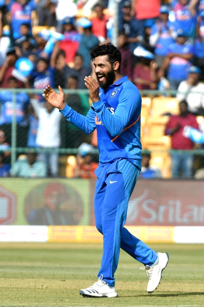 Rajkot, March 31 (IANS) Ravindra Jadeja's passion for horse riding came to the fore during the 21-day lockdown period as the India all-rounder was seen in action nearby his home premises. (File Photo: IANS) - Ravindra Jadeja
