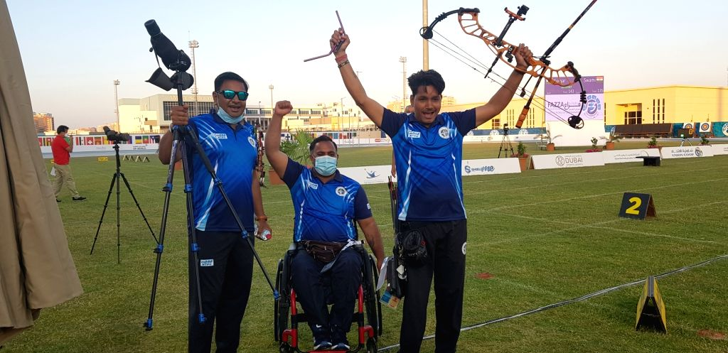 Rakesh Kumar on Friday defeated compatriot Shyam Sundar Swami to clinch the Compound Men Open gold medal as India finished their campaign with five medals at the 7th Fazza Para Archery World Ranking ... - Rakesh Kumar