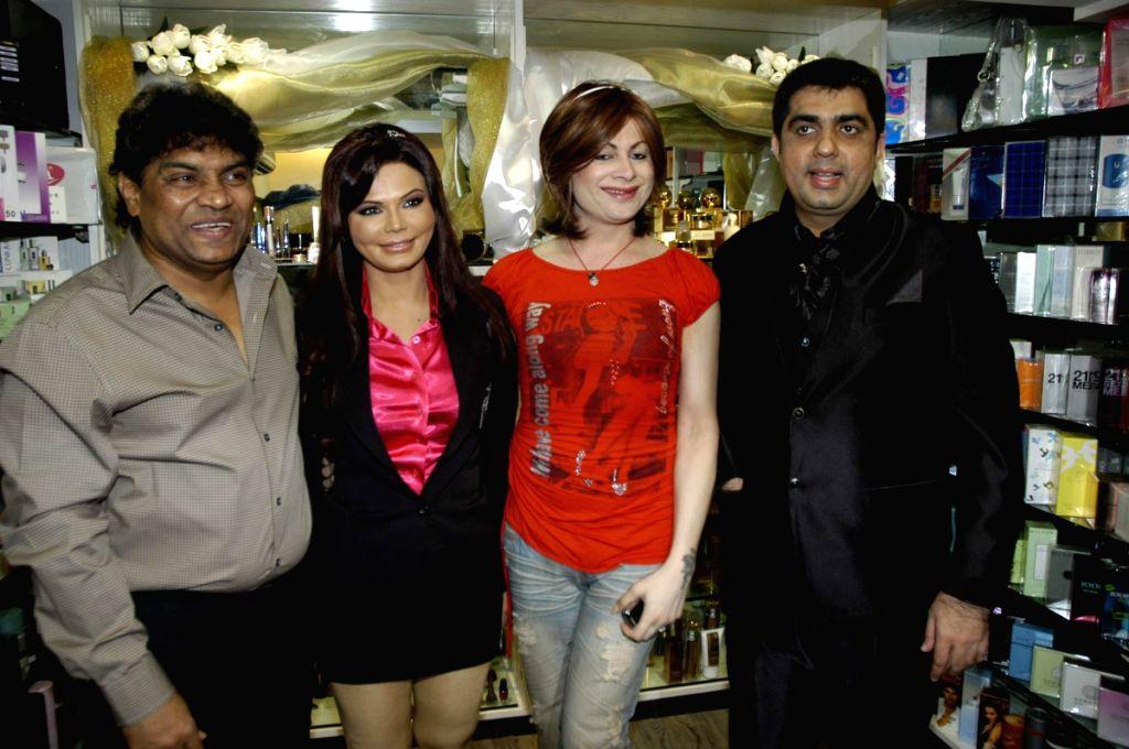 Rakhi Sawant's Beauty lounge launch at Andheri.