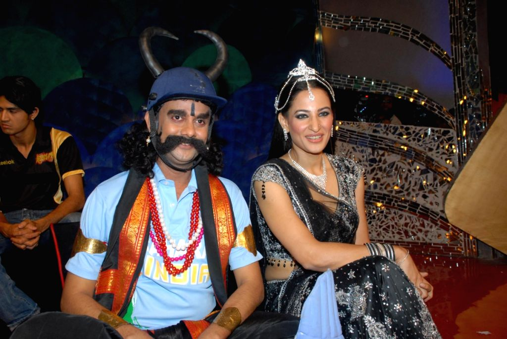 Rakshanda Khan on the sets of Comedy Circus.