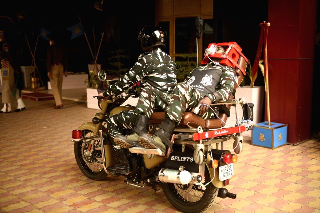 Rakshita': a bike ambulance to save CRPF in insurgency-hit remote areas.