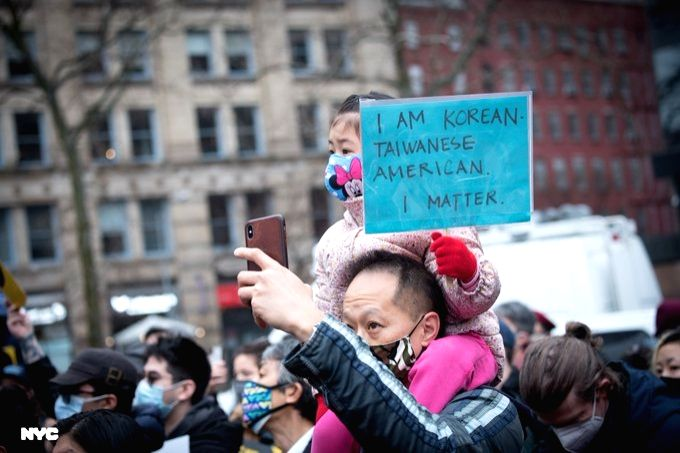 Rally against violence and crimes targeting Asian-Americans in New York City