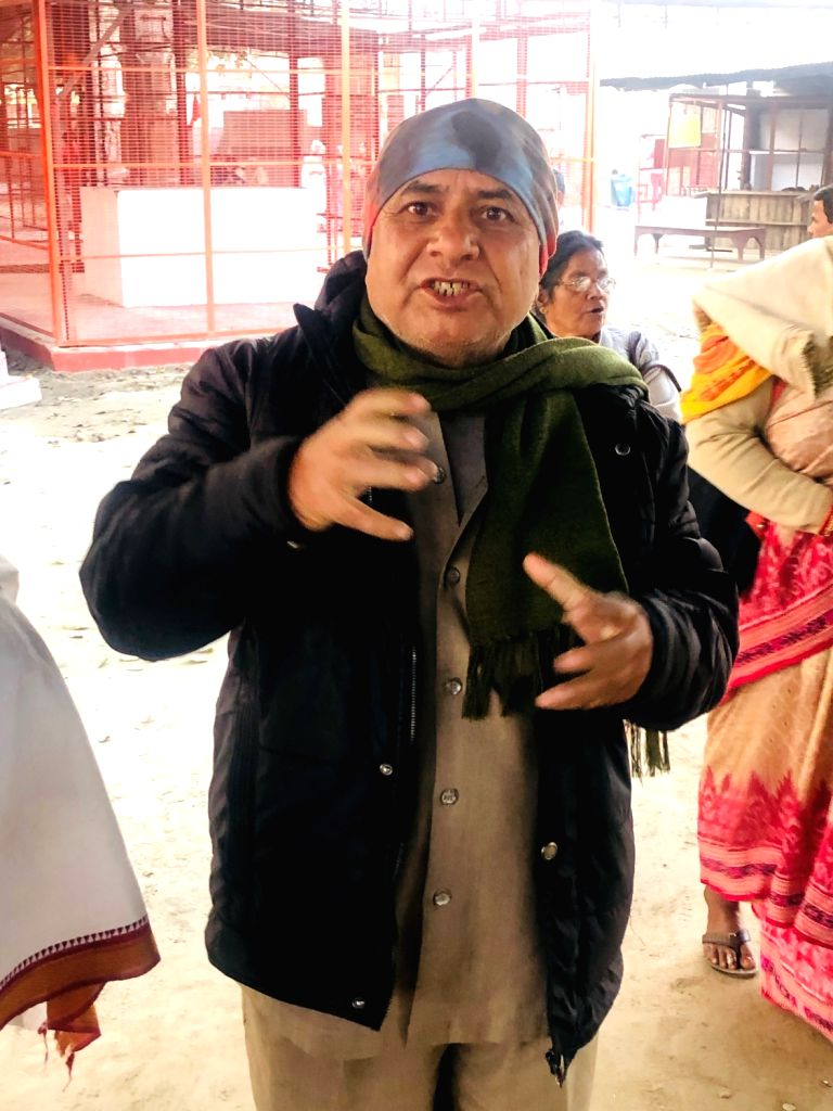 Ram Chandra Semantic Rai from Odisha, a pilgrim. - Chandra Semantic Rai