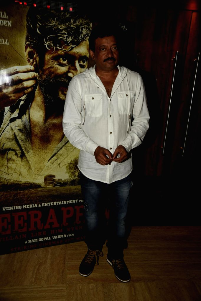 Ram Gopal Verma during the trailer launch of film Veerappan in Mumbai on April 18, 2016. - Gopal Verma