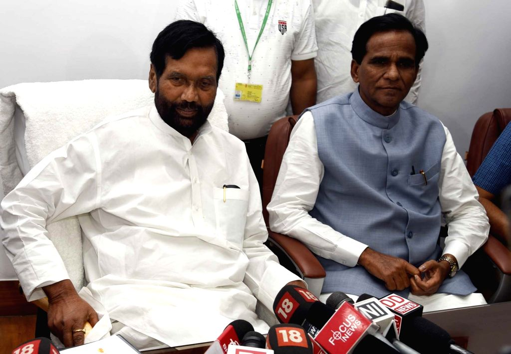 Ram Vilas Paswan takes charge as the Union Minister for Consumer Affairs, Food and Public Distribution, in New Delhi on May 31, 2019.