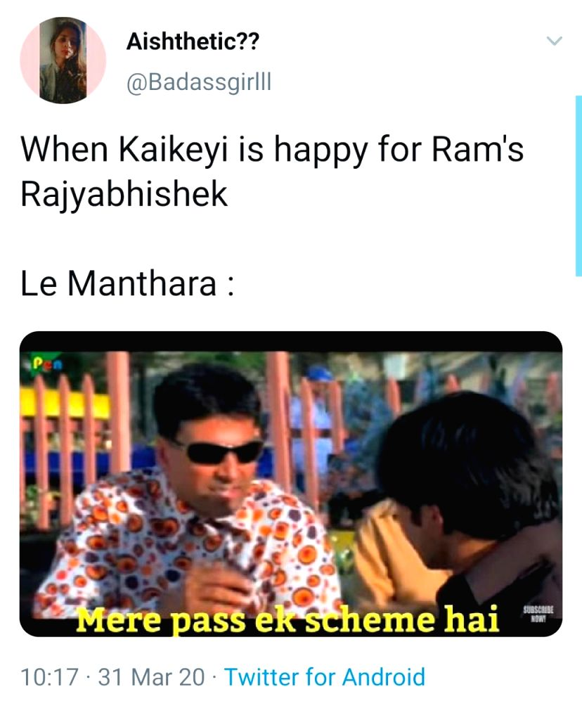 Ramayan memes on Twitter.